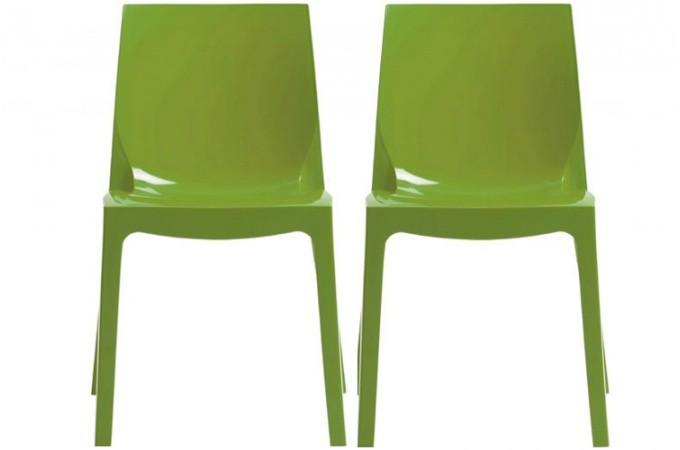 lot de 2 chaises verte laqu victory chaises design pas cher. Black Bedroom Furniture Sets. Home Design Ideas