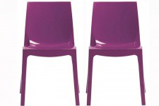 Lot de 2 Chaises Violette LADY - Chaise violette design