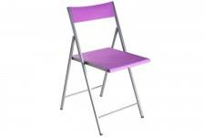 Chaise pliante violette Bilbao, deco design