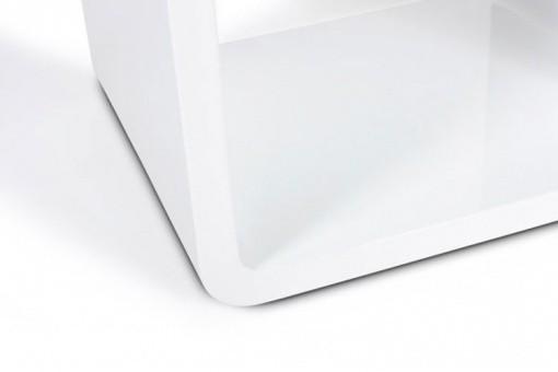 chevet design cube blanc laqu tables de chevets pas cher. Black Bedroom Furniture Sets. Home Design Ideas