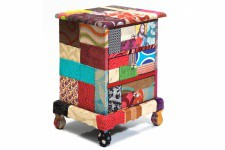 Table de chevet patchwork Paradise - Table de chevet design