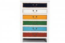 Commode Commode blanche et multicolore Kare Design 6 tiroirs Arlequin, deco design