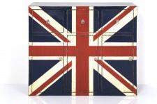 Commode Commode en bois Kare Design 3 tiroirs drapeau anglais William, deco design