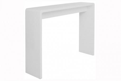 Console design blanc laqu club consoles pas cher declik deco - Console laque blanc design ...