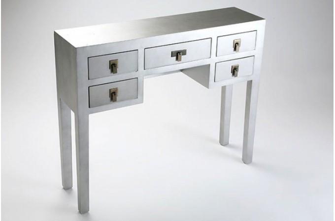 Console argent avec tiroirs pas cher - Console a tiroir ...