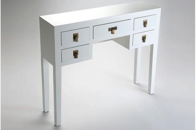 Console blanche avec tiroirs pas cher - Console a tiroir ...