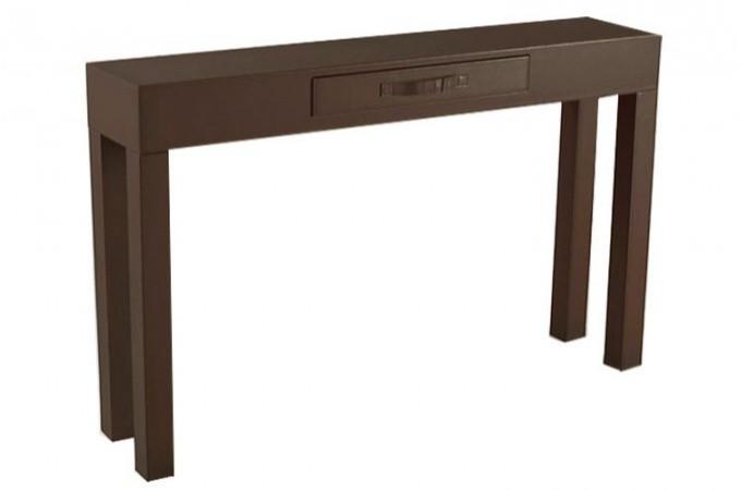 console design en simili cuir avec tiroir de rangement choco lola declikdeco. Black Bedroom Furniture Sets. Home Design Ideas