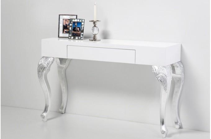 console baroque bicolore ph dra tiroir rangement argent declikdeco. Black Bedroom Furniture Sets. Home Design Ideas