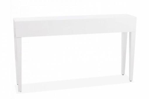 table console en bois blanc laqu igor consoles pas cher. Black Bedroom Furniture Sets. Home Design Ideas