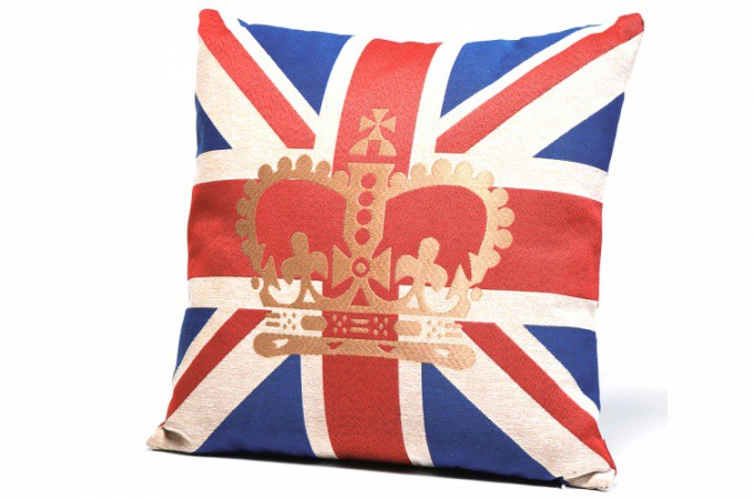 coussin british couronne 45x45 cm ruby coussins pas cher. Black Bedroom Furniture Sets. Home Design Ideas