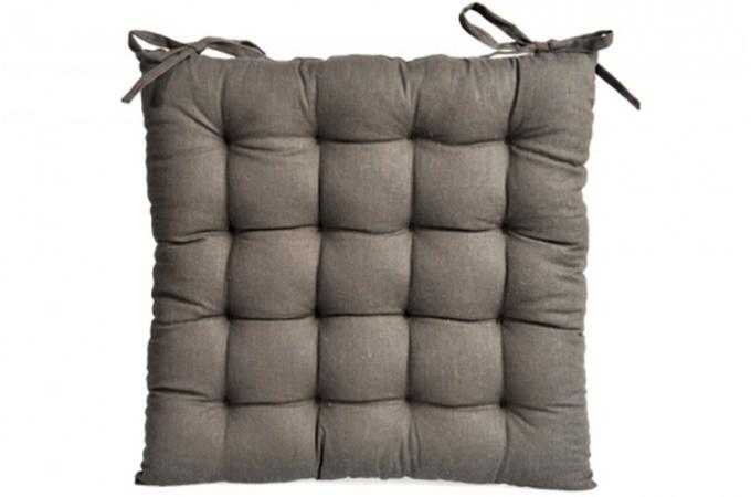 Coussin de chaise marron lanka coussins pas cher declik deco - Coussin de chaise pas cher ...