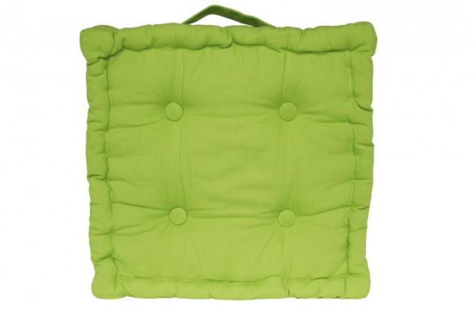 coussin de sol capitonn vert coussins pas cher declik deco. Black Bedroom Furniture Sets. Home Design Ideas