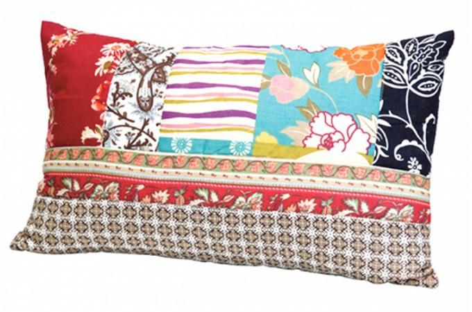 coussin rectangulaire en tissu patchwork ottawa coussins pas cher. Black Bedroom Furniture Sets. Home Design Ideas