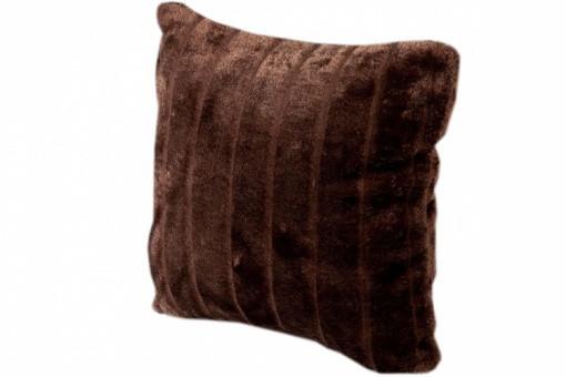 housse de coussin fourrure choco cocoon 40x40 cm coussins pas cher. Black Bedroom Furniture Sets. Home Design Ideas