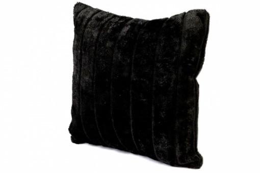 housse de coussin fourrure noire cocoon 40x40 cm coussins pas cher. Black Bedroom Furniture Sets. Home Design Ideas