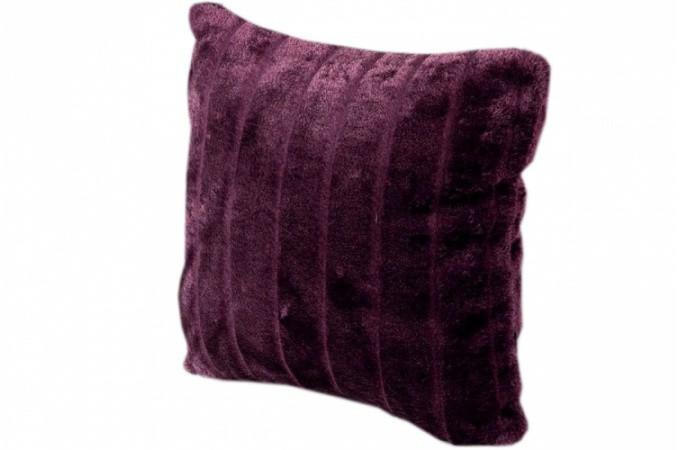 housse de coussin fourrure prune cocoon 40x40 cm. Black Bedroom Furniture Sets. Home Design Ideas