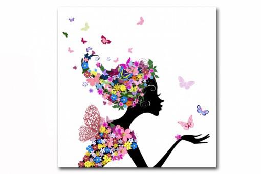 tableau enfant fee des fleurs 50x50 cm tableaux enfants With déco chambre bébé pas cher avec envoi de fleurs Ï domicile