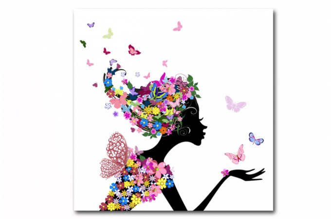 tableau enfant fee des fleurs 50x50 cm tableaux enfants With déco chambre bébé pas cher avec envoi de fleurs Á domicile