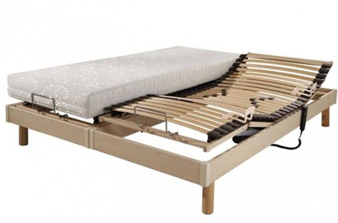 Ensemble relaxation lectrique s60 matelas100 latex 2x80x200 ensembles lit - Sommier electrique 80x200 ...
