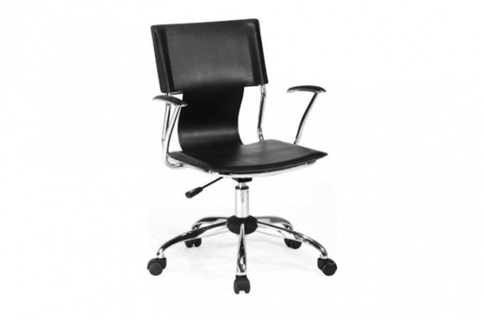Fauteuil de bureau ava noir fauteuil bureaux pas cher for Bureau noir simple