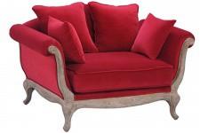 Fauteuil Crapaud Fauteuil velours rouge Pompadour, deco design