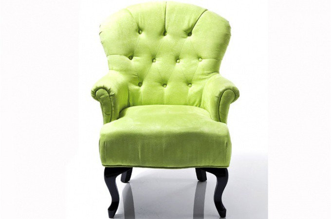 fauteuil baroque capitonn vert anis fauteuils design pas cher. Black Bedroom Furniture Sets. Home Design Ideas