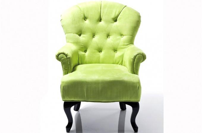 Fauteuil baroque capitonn vert anis fauteuils design - Deco baroque pas cher ...