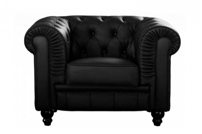 fauteuil chesterfield simili cuir noir fauteuils. Black Bedroom Furniture Sets. Home Design Ideas