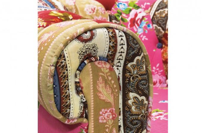 fauteuil fleuri en coton boketa tissu bouleau confort declikdeco. Black Bedroom Furniture Sets. Home Design Ideas