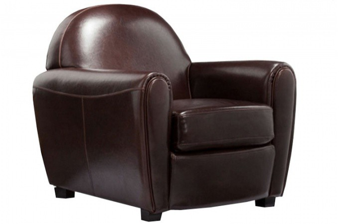 fauteuil club simili cuir broadway fauteuils design pas cher. Black Bedroom Furniture Sets. Home Design Ideas