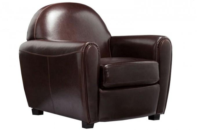 Fauteuil club simili cuir broadway fauteuils design pas cher - Fauteuils club en cuir ...