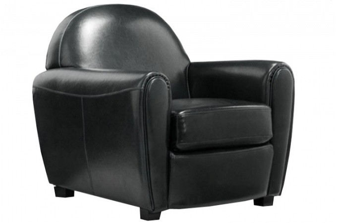 fauteuil club noir but. Black Bedroom Furniture Sets. Home Design Ideas