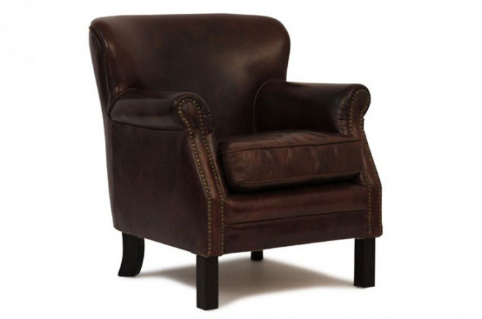 fauteuil club vintage cuir vieilli fauteuils classiques. Black Bedroom Furniture Sets. Home Design Ideas