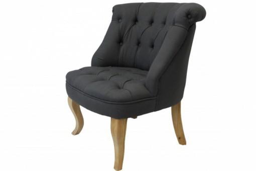 Fauteuil crapaud capitonn trianon en lin gris achat fauteuil crapaud pas c - Fauteuil crapaud lin gris ...
