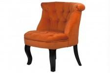 Fauteuil Crapaud Fauteuil crapaud capitonné Trianon orange, deco design