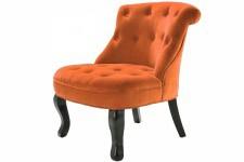 Fauteuil Crapaud Fauteuil Crapaud Capitonné Velours Orange Antoinette, deco design