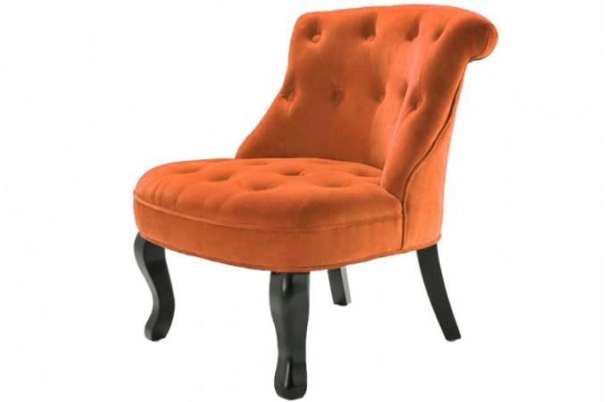 fauteuil crapaud velours orange antoinette fauteuils. Black Bedroom Furniture Sets. Home Design Ideas