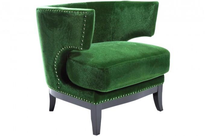 fauteuil en velours art d co vert bastille declikdeco. Black Bedroom Furniture Sets. Home Design Ideas