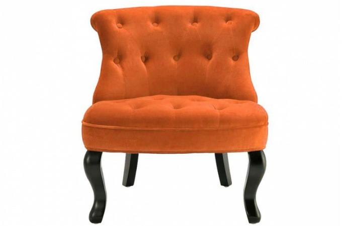 fauteuil crapaud velours orange antoinette fauteuils classiques pas cher. Black Bedroom Furniture Sets. Home Design Ideas