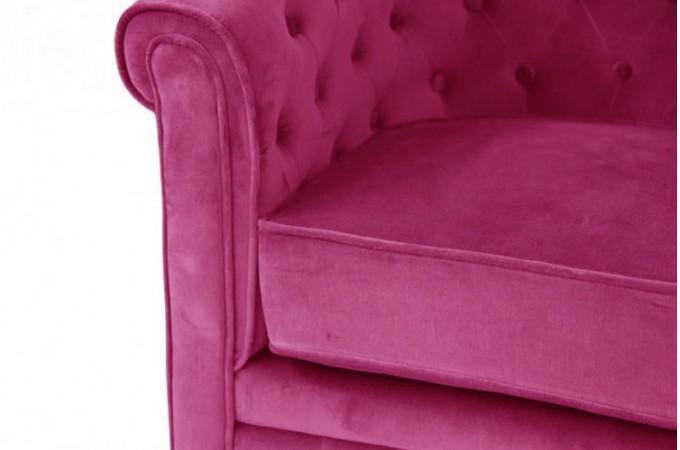 fauteuil chesterfield velours fushia fauteuils classiques pas cher. Black Bedroom Furniture Sets. Home Design Ideas