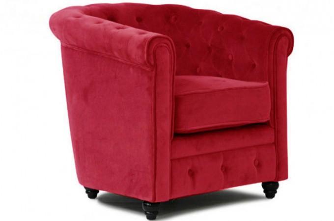 Fauteuil chesterfield vari t de fauteuil chesterfield pas cher page 1 - Fauteuil chesterfield velours rouge ...