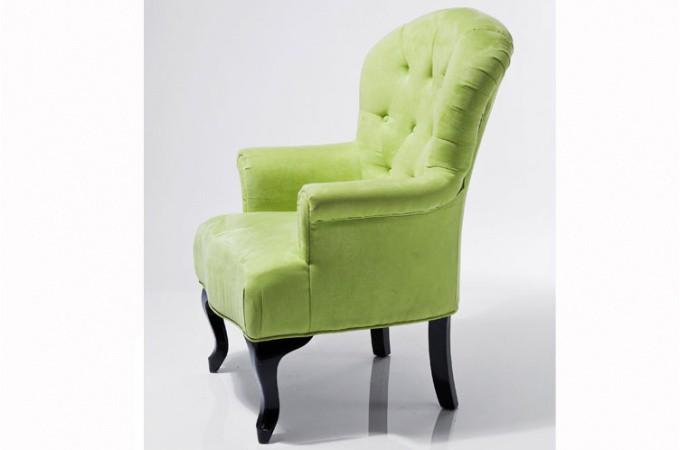 fauteuil baroque capitonn vert anis fauteuils design pas cher. Black Bedroom Furniture Sets. Home Design Ideas