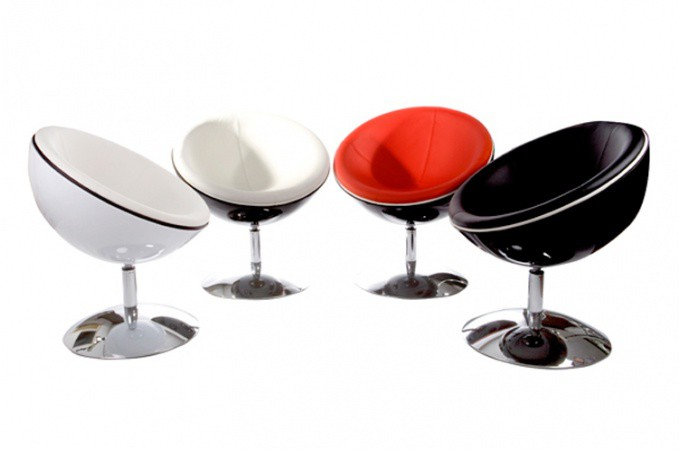 Fauteuil boule spider noir liser blanc fauteuil spider - Fauteuil boule pas cher ...