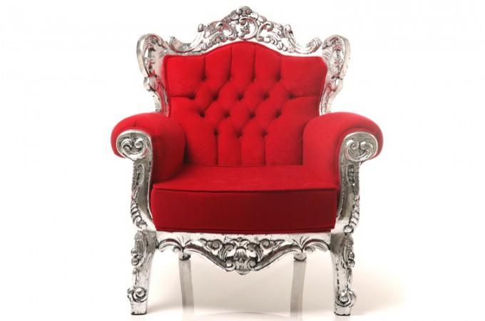 fauteuil baroque rouge souverain aluminium spacieux declikdeco. Black Bedroom Furniture Sets. Home Design Ideas