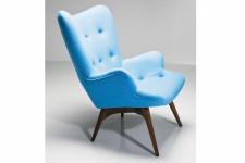 Fauteuil Bleu Kare Design en Bois et Laine Atlanta, deco design