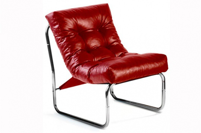 Fauteuil design capitonn rouge psy fauteuils design pas cher - Fauteuil rouge design ...