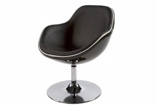 fauteuil design noir liser blanc simili cuir miami fauteuils design pas cher. Black Bedroom Furniture Sets. Home Design Ideas