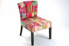 Fauteuil design Patchwork Lilly - Fauteuil multicolore design