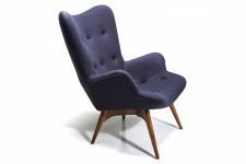 Fauteuil gris anthracite Kare Design en bois et laine Atlanta, deco design