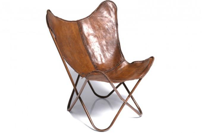 fauteuil transat kare design cuir de vache clarabelle fauteuil design pas cher. Black Bedroom Furniture Sets. Home Design Ideas